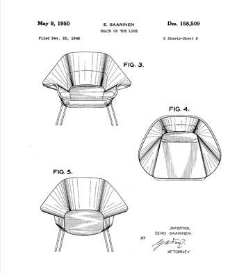 womb chair patent